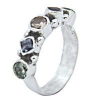 Sensational Multi Gemstone Silver Jewellery Ring