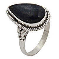 Pear Lapis Hot Gemstone Silver Ring