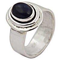 Gracious Fashionable Lapis Gemstone Silver Ring