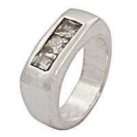 Fashion Accessories Cubic Zirconia Silver Ring