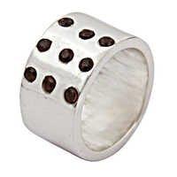 Delicate Garnet Gemstone Silver Ring