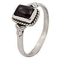 Indian Designer Black Onyx Gemstone Silver Jewellery Ring