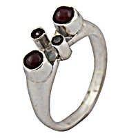 Pure Style Garnet & Ruby Gemstone Silver Ring