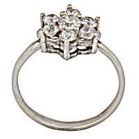 Popular Design Cubic Zirconia Silver Jewellery Ring