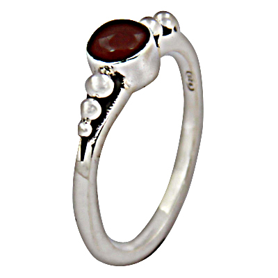Most Fashionable Cornileon Gemstone Silver Ring