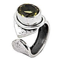 Graceful Glamour Peridot Gemstone Silver ring