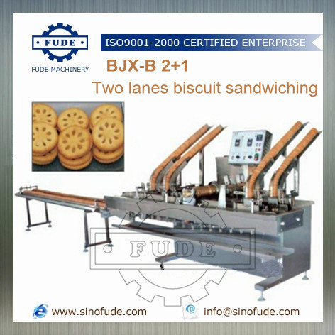 Two Lanes Biscuit Sandwiching Machine