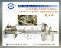 Automatic biscuit combine sandwiching with packing machine