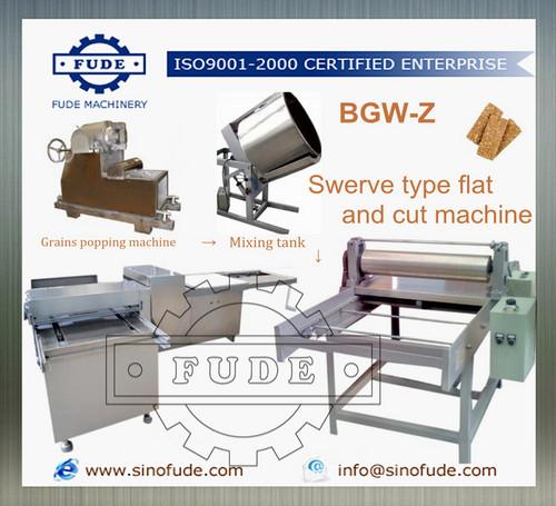 Swerve type flat and cut machine