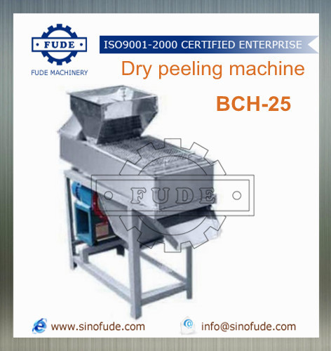 Dry peeling machine