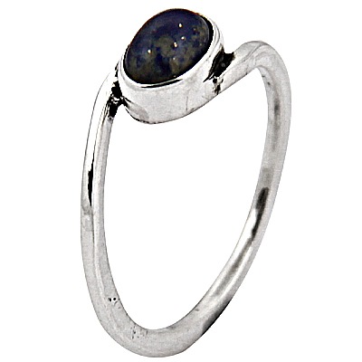Unique Lapis Gemstone Silver Ring