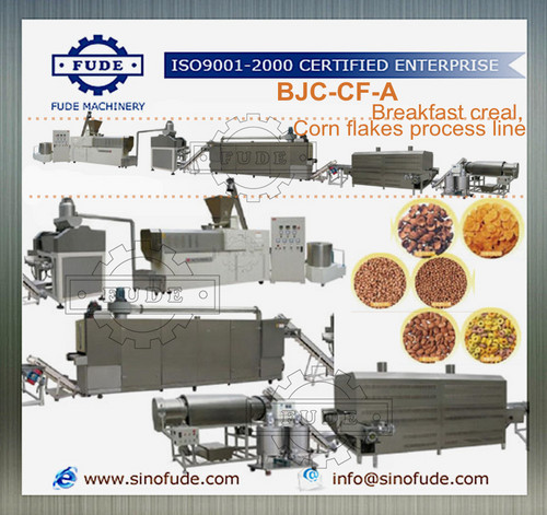 Breakfast creal,Corn flakes process line