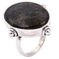 Attention Labradorite Gemstone Silver Ring