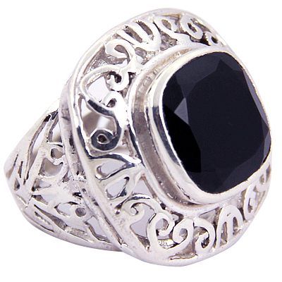 Traditional Black Onyx Gemstone Silver Jewellery
