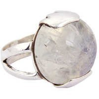 Cool Large Rainbow Gemstone Silver Ring