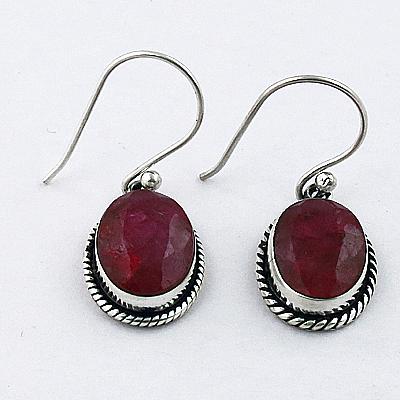 Royal Rhodochrosiotoe Gemstone Designer Silver Earrings