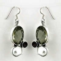 Fabulous Multi Gemstone Silver Earrings