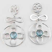 Life of the Party Blue Topaz Gemstone Silver Earrings