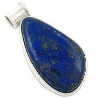 Glamour Eternity Lapis Lazuli Fancey Gemstone Silver Pendant