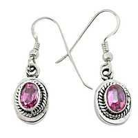 Latest Pink Cubic ZIirconia Round Earrings