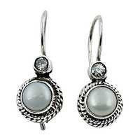 Exclusive 925 Cubic Zirconia Pearl Silver Earrings