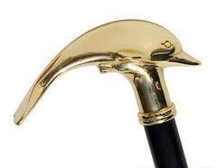 Brass Whale Walking Stick