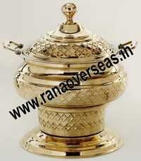 BRASS FOOD SERVING CHAFING DISH