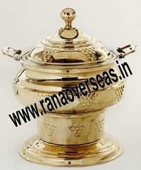 BRASS CHAFFERS DISH IN 4 LITRES  6 LITRES AND 8LITRES