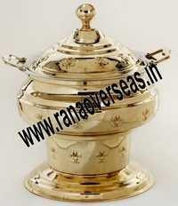 Round Brass Chafing Dish.
