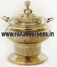 Engraved Chafing Dish in Brass Metal