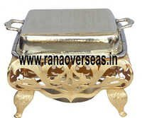 BRASS RECTANGLE CHAFING DISH