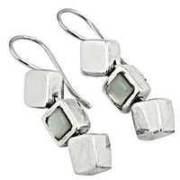 Newest Product Silver Sterling Earrings With Rainbow Moonstone