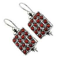 New Antique Coral  Silver Earrings
