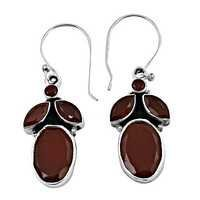 Royal Red Onyx 925 Sterling Silver Earrings