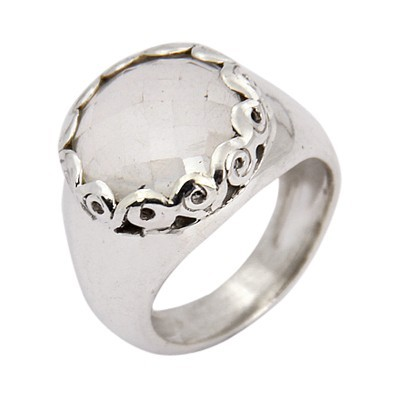 Charming Crystal Gemstone Silver Ring