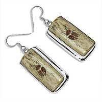 Hot Sale Silver Earrings With Bone
