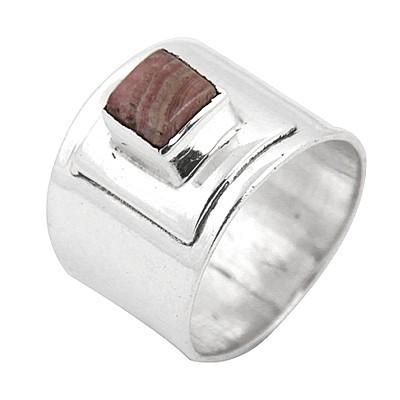Elegant Agate Gemstone Silver Ring