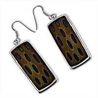 Popular Design Wooden Sterling Silver Earrings