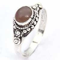 Traditional Rainbow Gemstone Silver Ring
