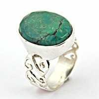 Sensational Turquoise Gemstone Silver Ring