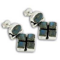 Exclusive Labradorite Silver Gemstone Earrings