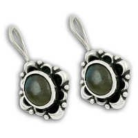 Indian Design Labradorite Silver Gemstone Earrings