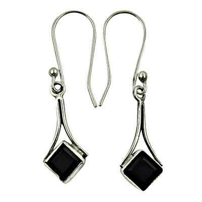 Top Quality Jewelry Gemstone Silver Earrings