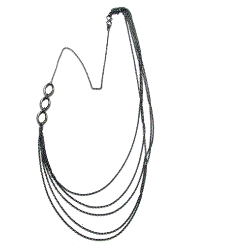 Diamond Sterling Silver Chain Necklace