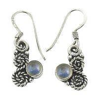 Ultimate Rainbow Moonstone Gemstone Silver Earrings