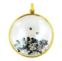 黑白色金刚石水晶时尚振动器垂饰