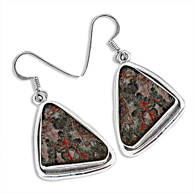 The Triangle Silver Earrings