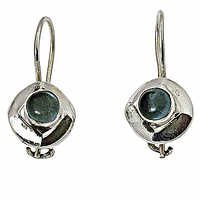 Stylish 925 Sterling Silver Earrings With Apatite