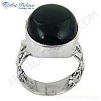 New Arrival Black Onyx Gemstone Silver Ring