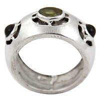 Latest Amethyst & Peridot Gemstone Silver Ring